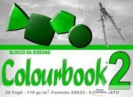 ALBUM DISEGNO COLOURBOOK 2 LISCIO RIQUADRATO 24X33 110GR 20 FOGLI